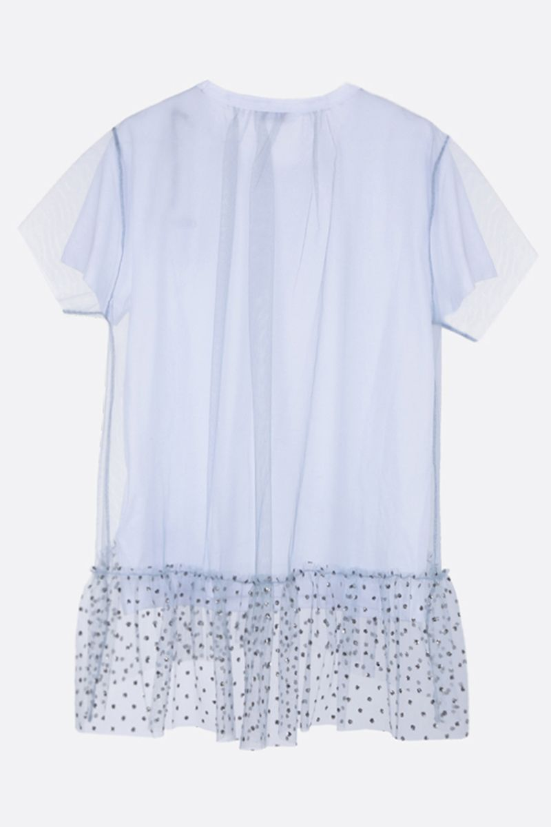 RED VALENTINO: cotton and tulle t-shirt Color White_2