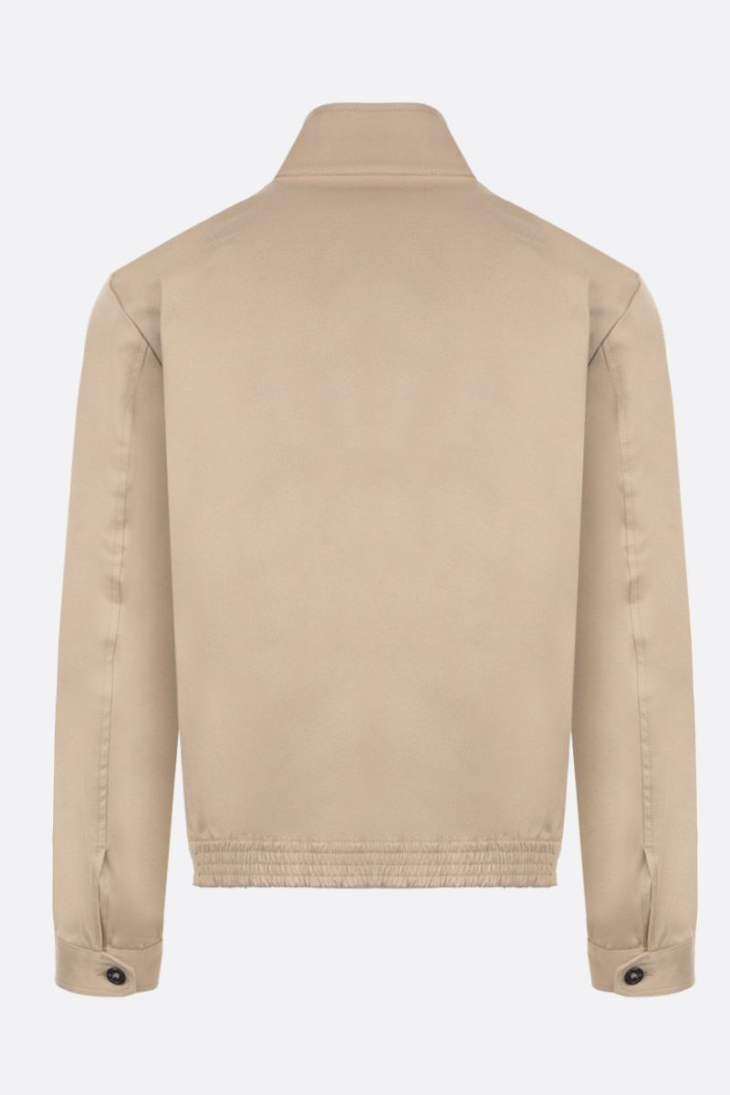DSQUARED2: cotton twill bomber jacket with logoed band Color Neutral_2