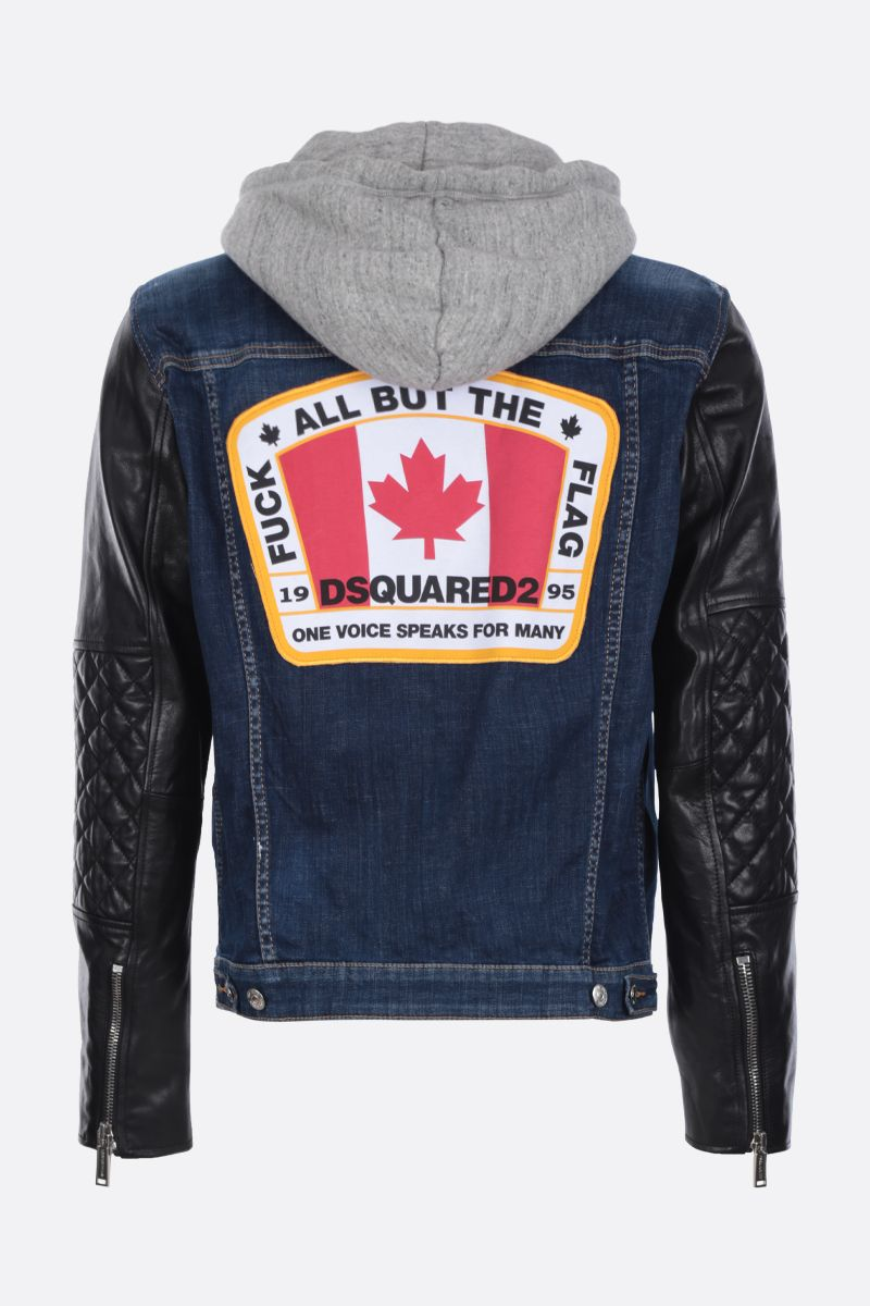 DSQUARED2: Dan Jean jacket Color Blue_2