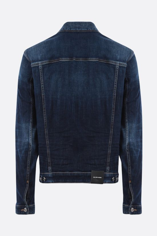 DSQUARED2: giubbotto Dan in denim stretch Colore Blu_2
