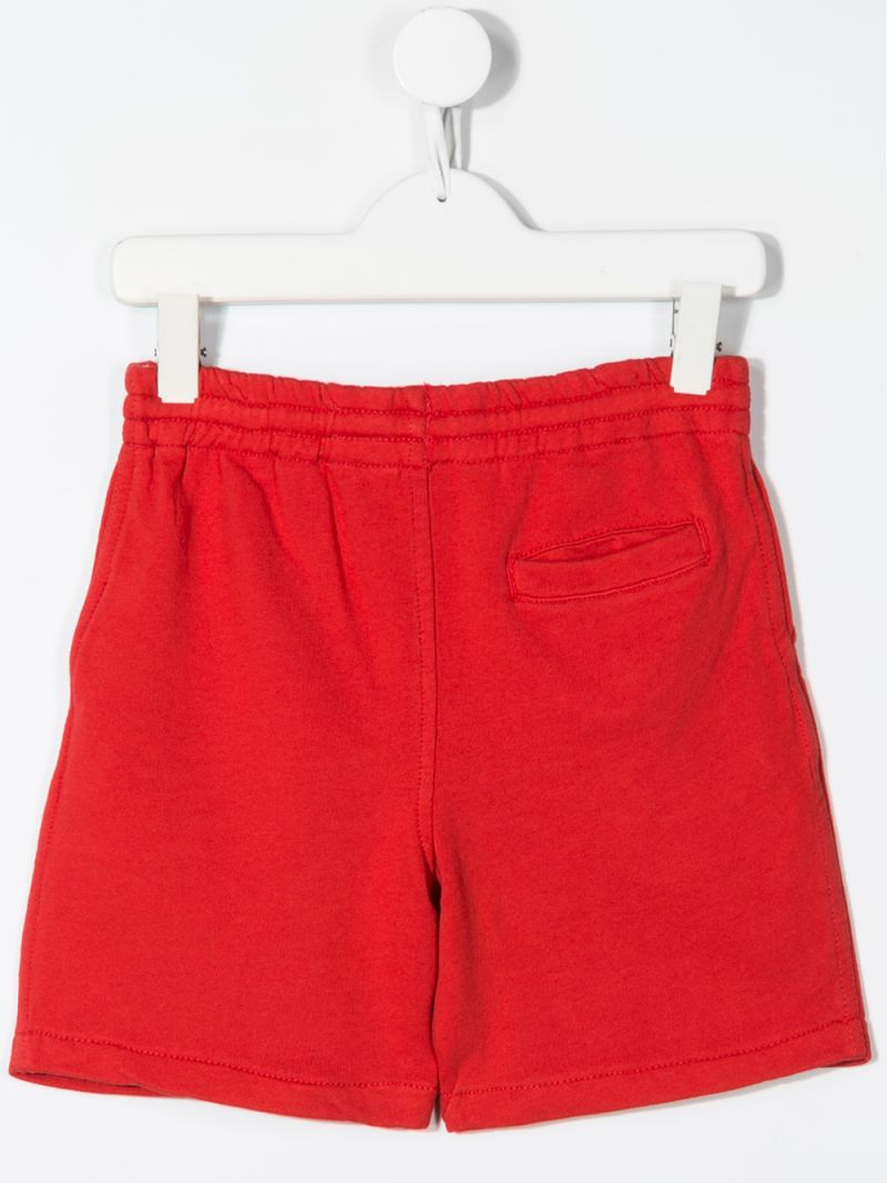 RALPH LAUREN KIDS: Big Pony embroidered cotton shorts Color Red_2