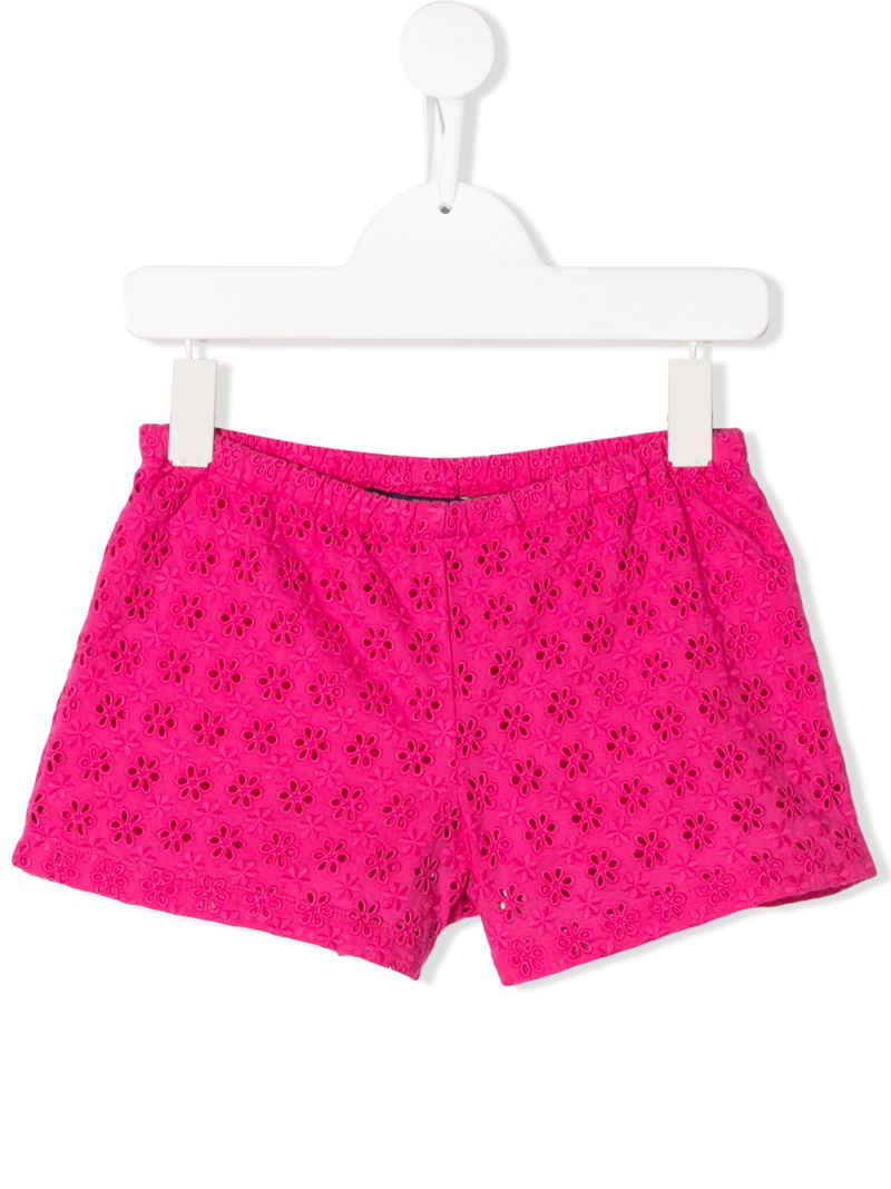 RALPH LAUREN KIDS: broderie anglaise shorts Color Pink_1