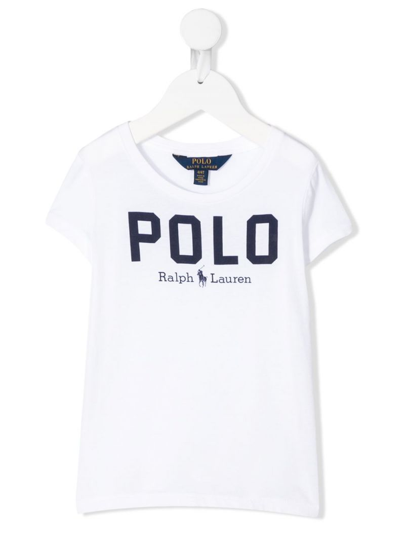 RALPH LAUREN KIDS: Polo cotton t-shirt Color White_1