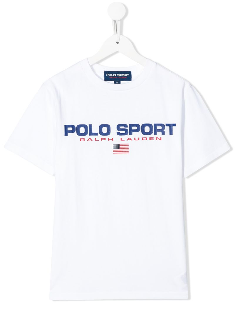 RALPH LAUREN KIDS: Polo Sport cotton t-shirt Color White_1