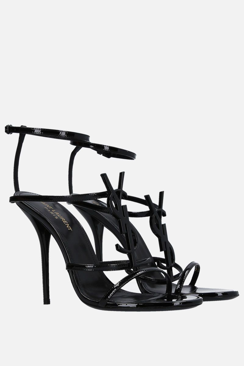 SAINT LAURENT: Cassandra sandals in patent leather Color Black_2