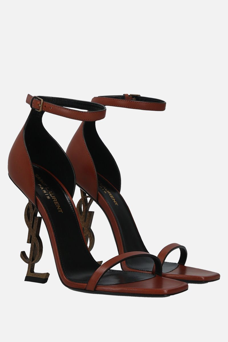 SAINT LAURENT: Opyum smooth leather sandals_2