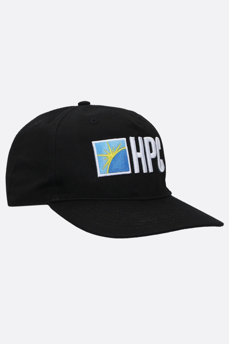 HERON PRESTON: HPC gabardine baseball cap Color Black_2