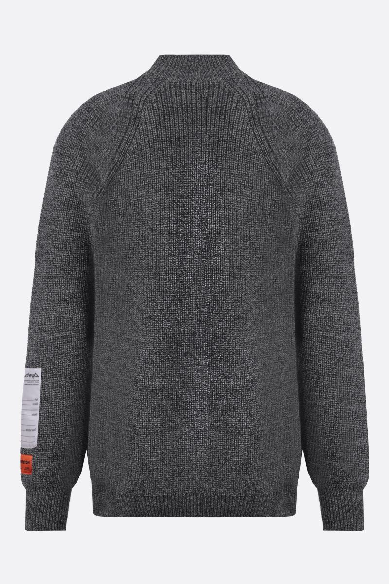 HERON PRESTON: CTNMB embroidered wool pullover Color Grey_2