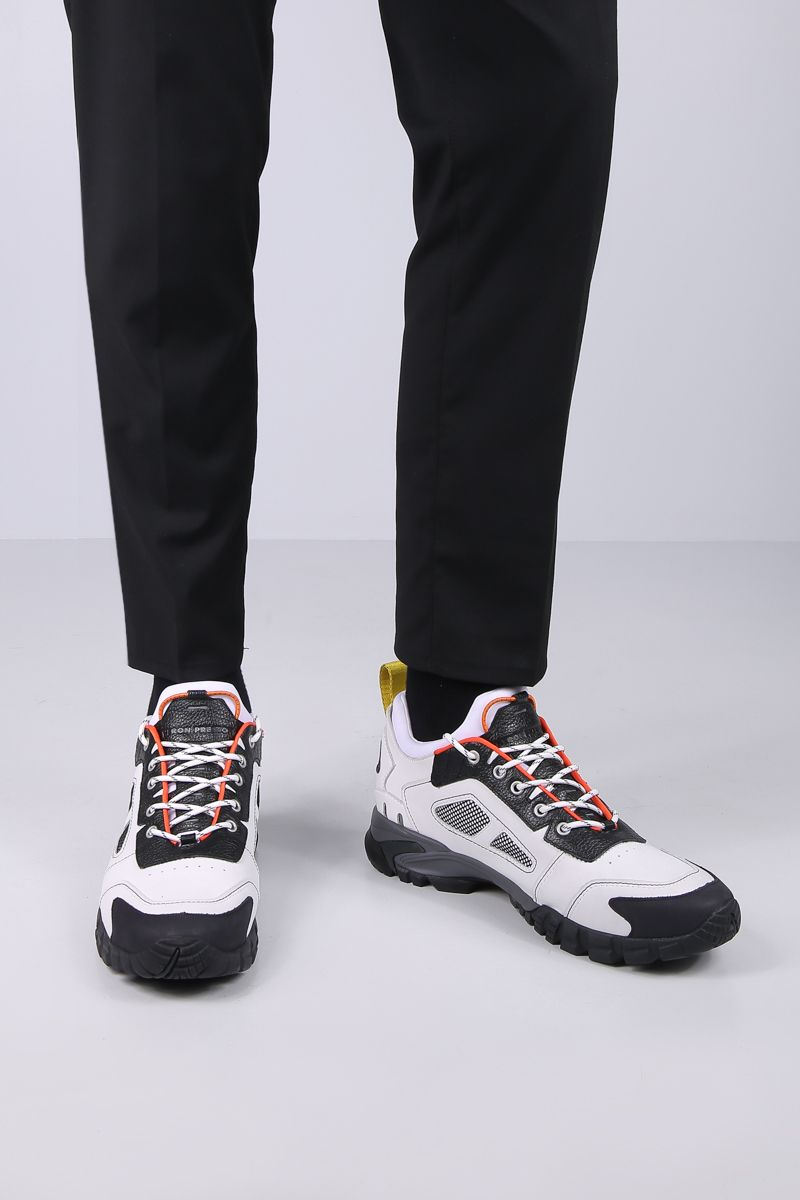 HERON PRESTON: Security sneakers in nabuk and mesh Color Multicolor_2