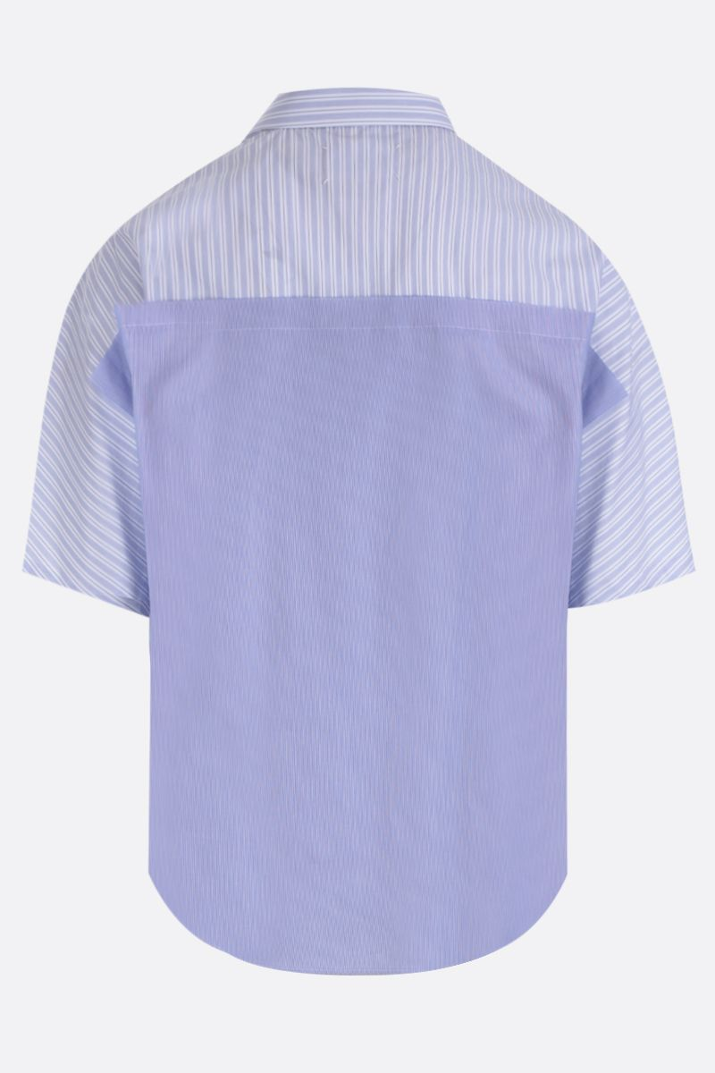 MAISON MARGIELA: striped poplin short-sleeved shirt Color Multicolor_2