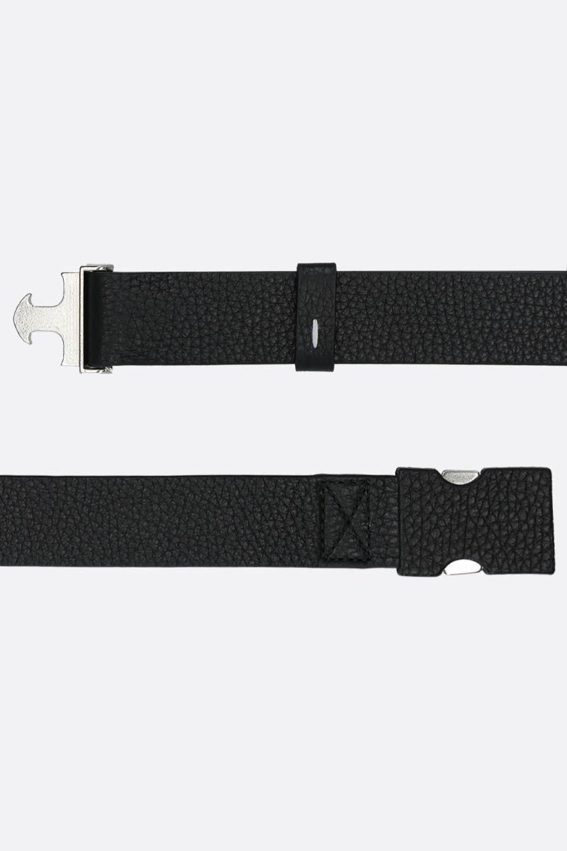 MAISON MARGIELA: grainy leather belt Color Black_2
