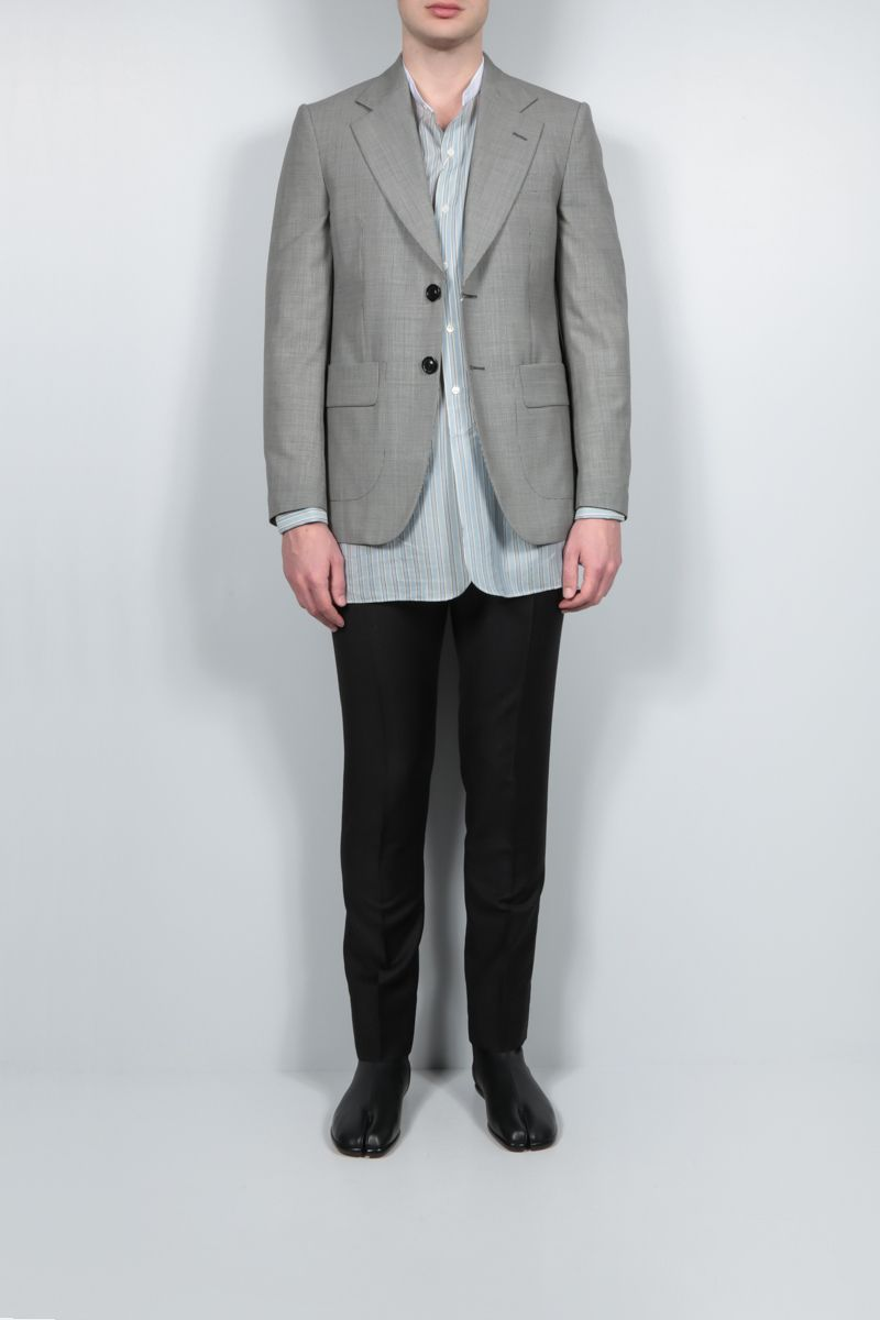 MAISON MARGIELA: single-breasted houndstooth wool jacket Color Animalier_2
