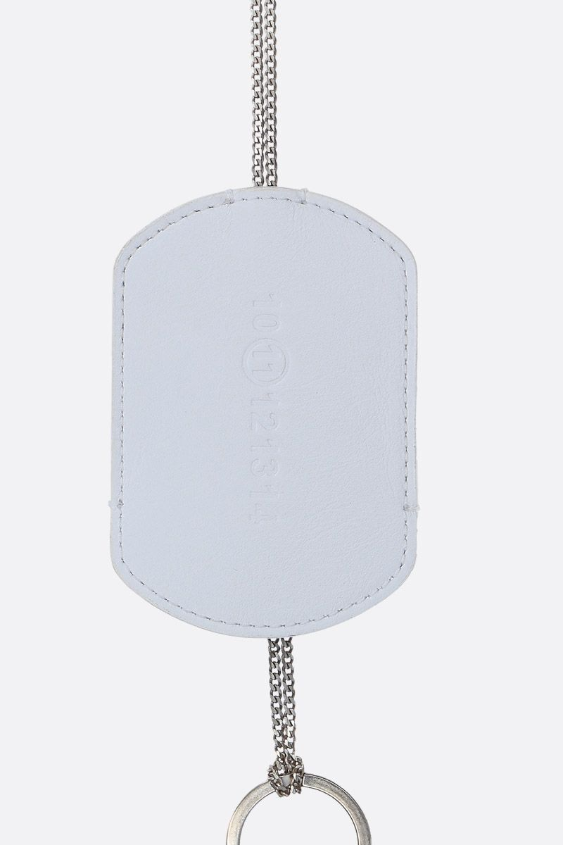 MAISON MARGIELA: Multi-Wear necklace in sterling silver Color White_2