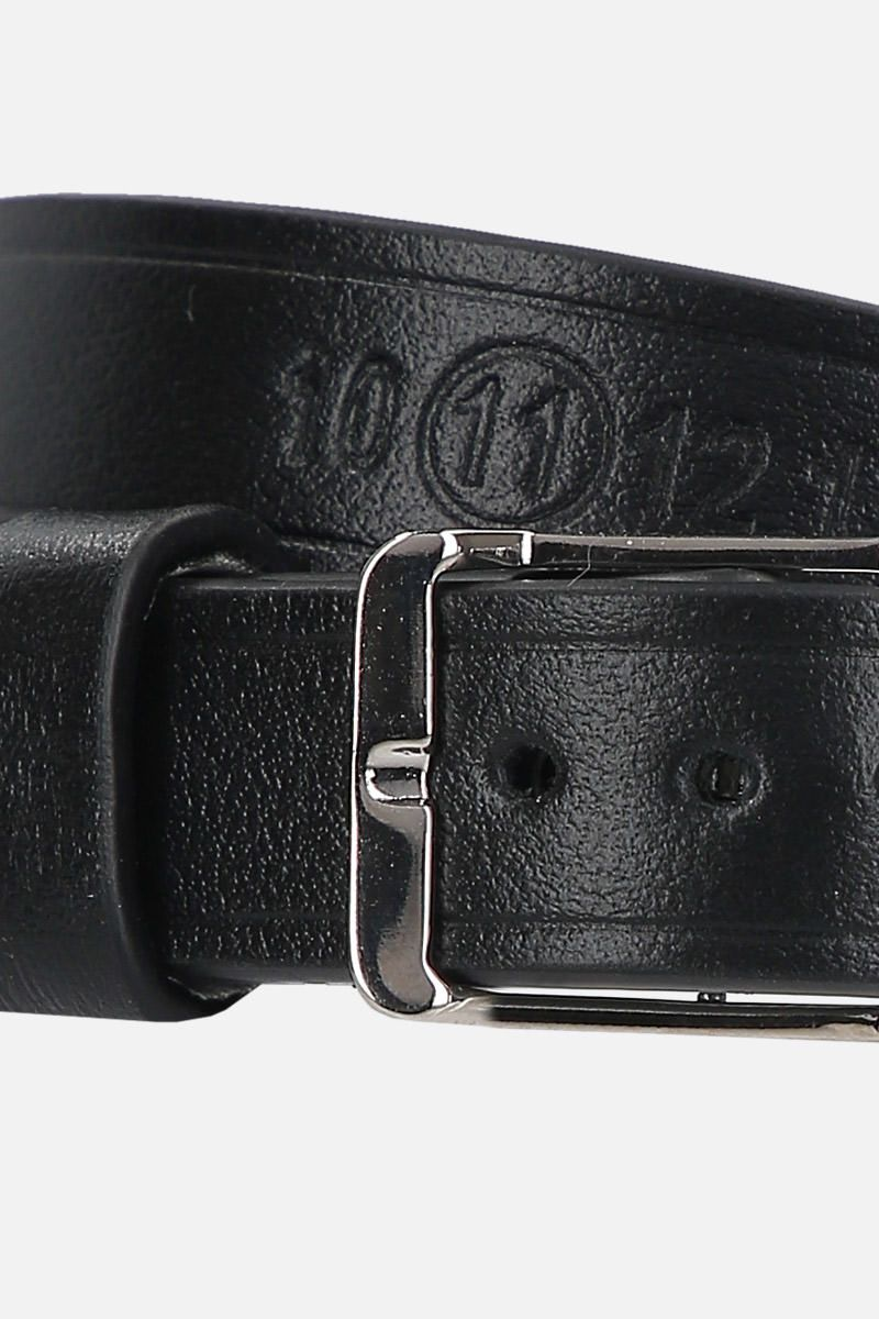 MAISON MARGIELA: smooth leather double-wrap bracelet Color Black_2