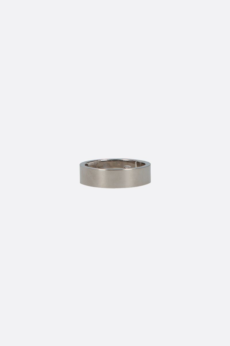 MAISON MARGIELA: numerical logo engraved sterling silver ring Color Silver_2