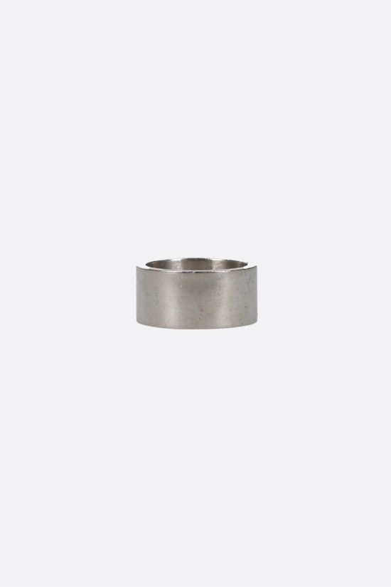 MAISON MARGIELA: sterling silver band ring Color Gold_2