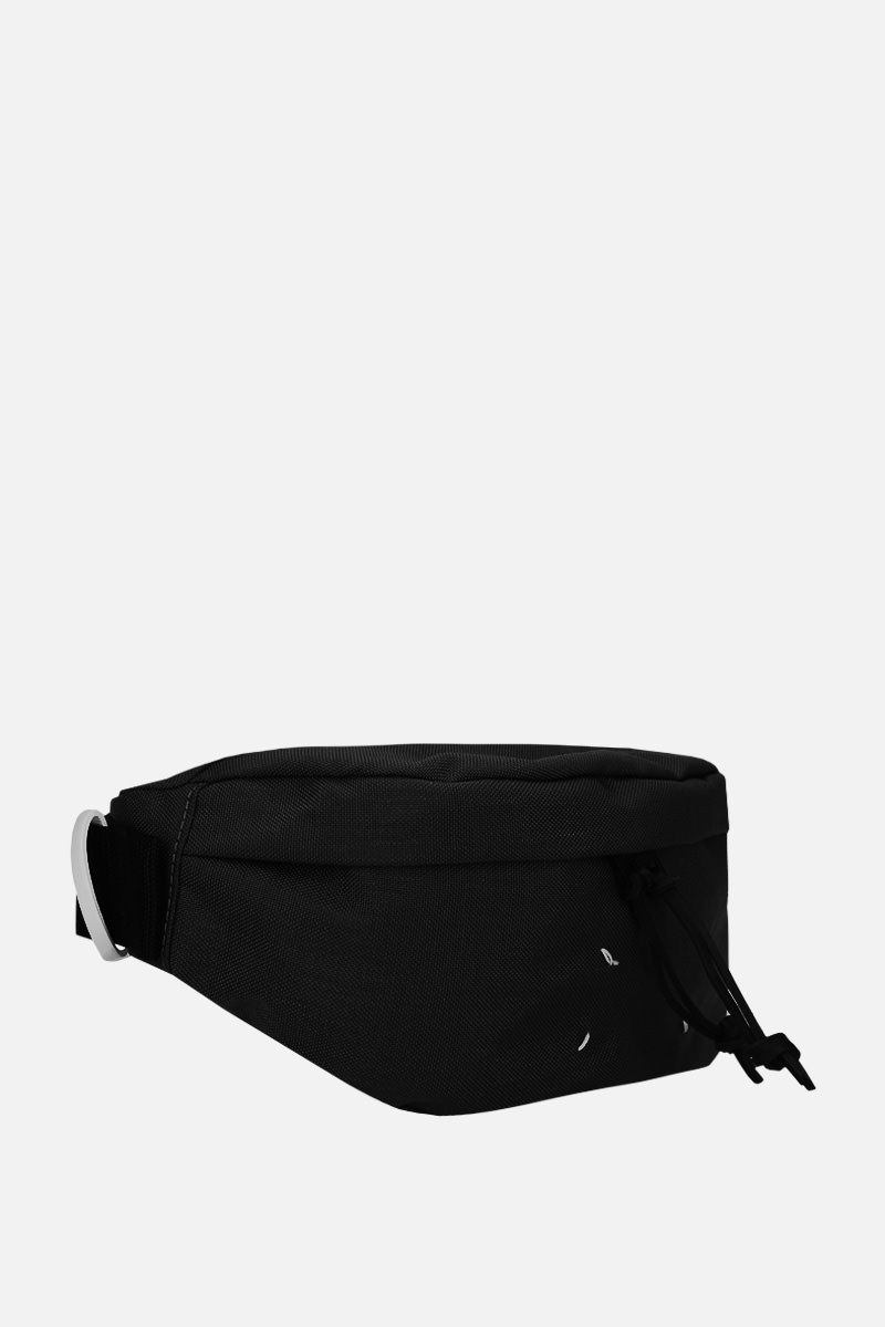 MAISON MARGIELA: badge holder-detailed nylon belt bag Color Black_2