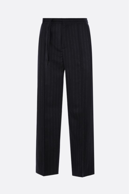 MAISON MARGIELA: pinstriped wool joggers Color Black_1