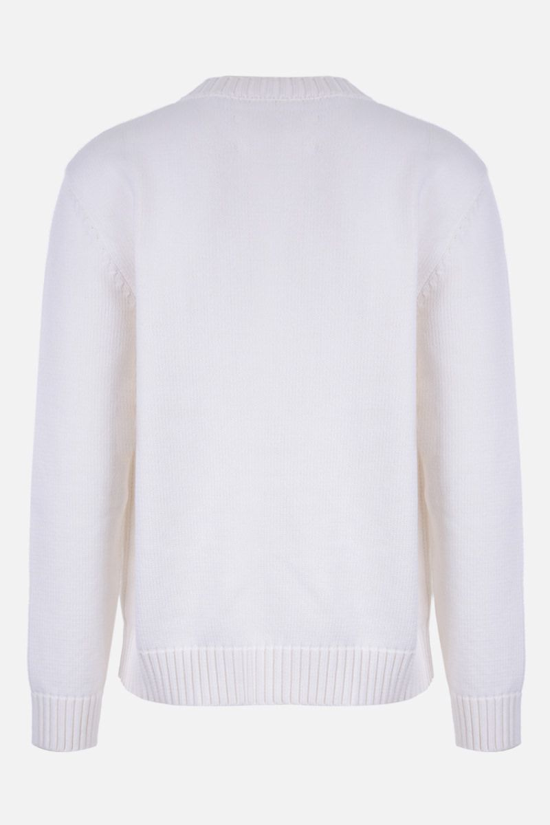 MAISON MARGIELA: Memory Of cotton blend pullover Color White_2