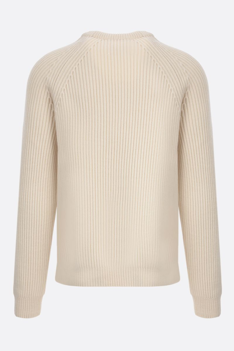 MAISON MARGIELA: ribbed wool pullover Color White_2