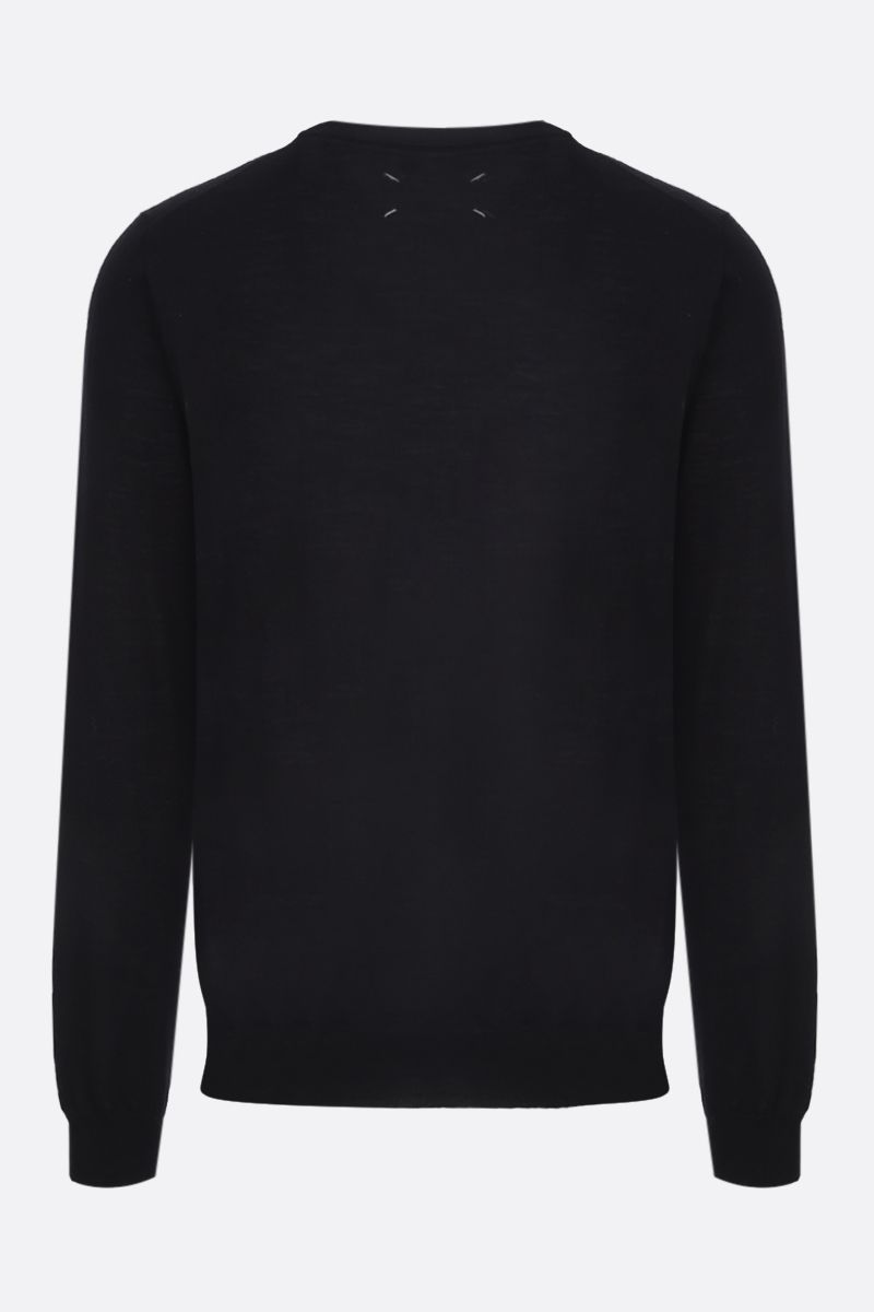 MAISON MARGIELA: piping-detailed combed wool pullover Color Black_2