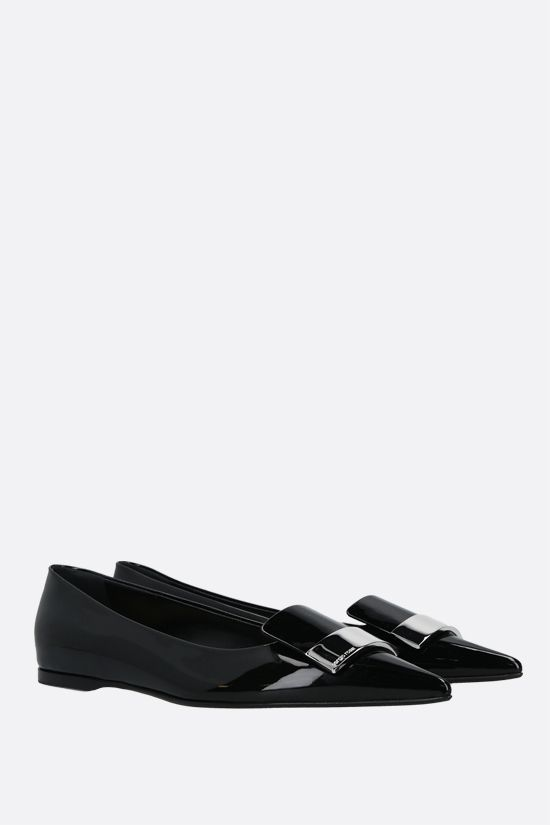 SERGIO ROSSI: sr1 patent leather ballerinas Color Black_2