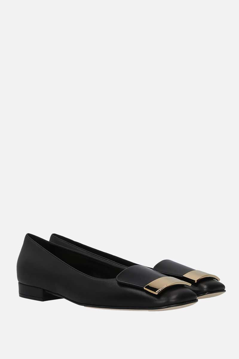 SERGIO ROSSI: sr1 soft nappa ballerinas Color Black_2