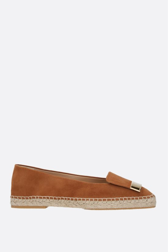 SERGIO ROSSI: sr1 suede espadrilles Color Brown_1
