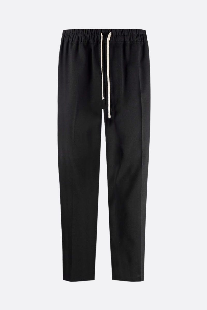 RICK OWENS: pantalone cropped Astaires in lana stretch Colore Black_1