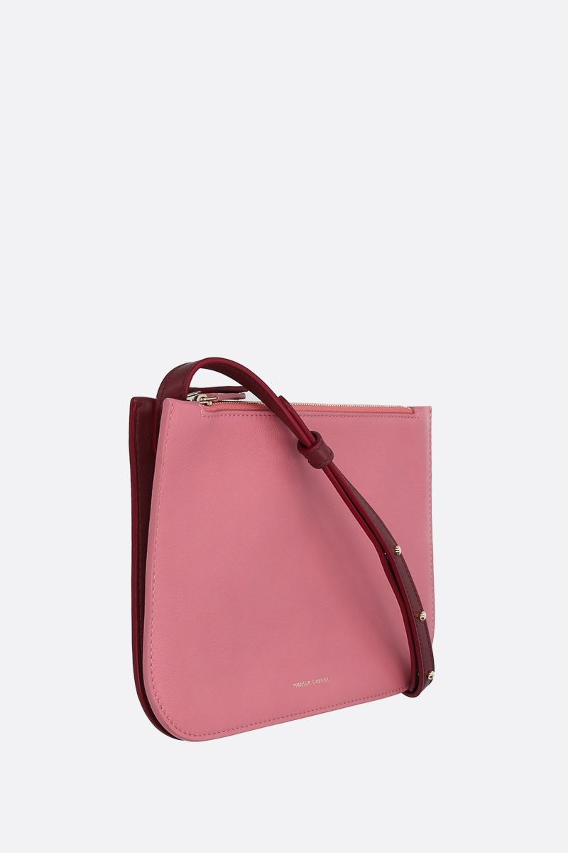MANSUR GAVRIEL: grainy leather double crossbody bag_2