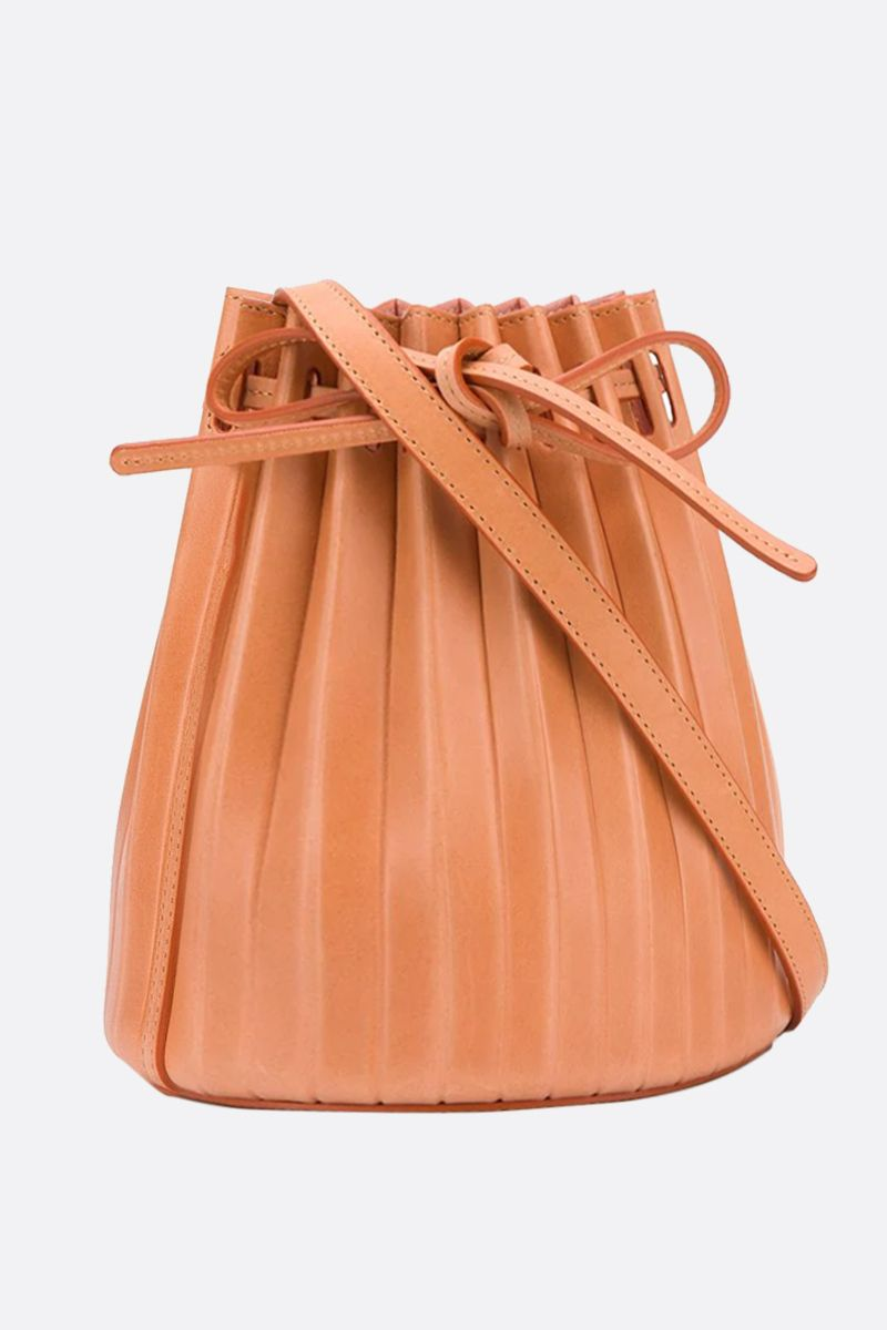 MANSUR GAVRIEL: borsa a spalla Bucket Pleated mini in pelle liscia Colore Multicolore_2