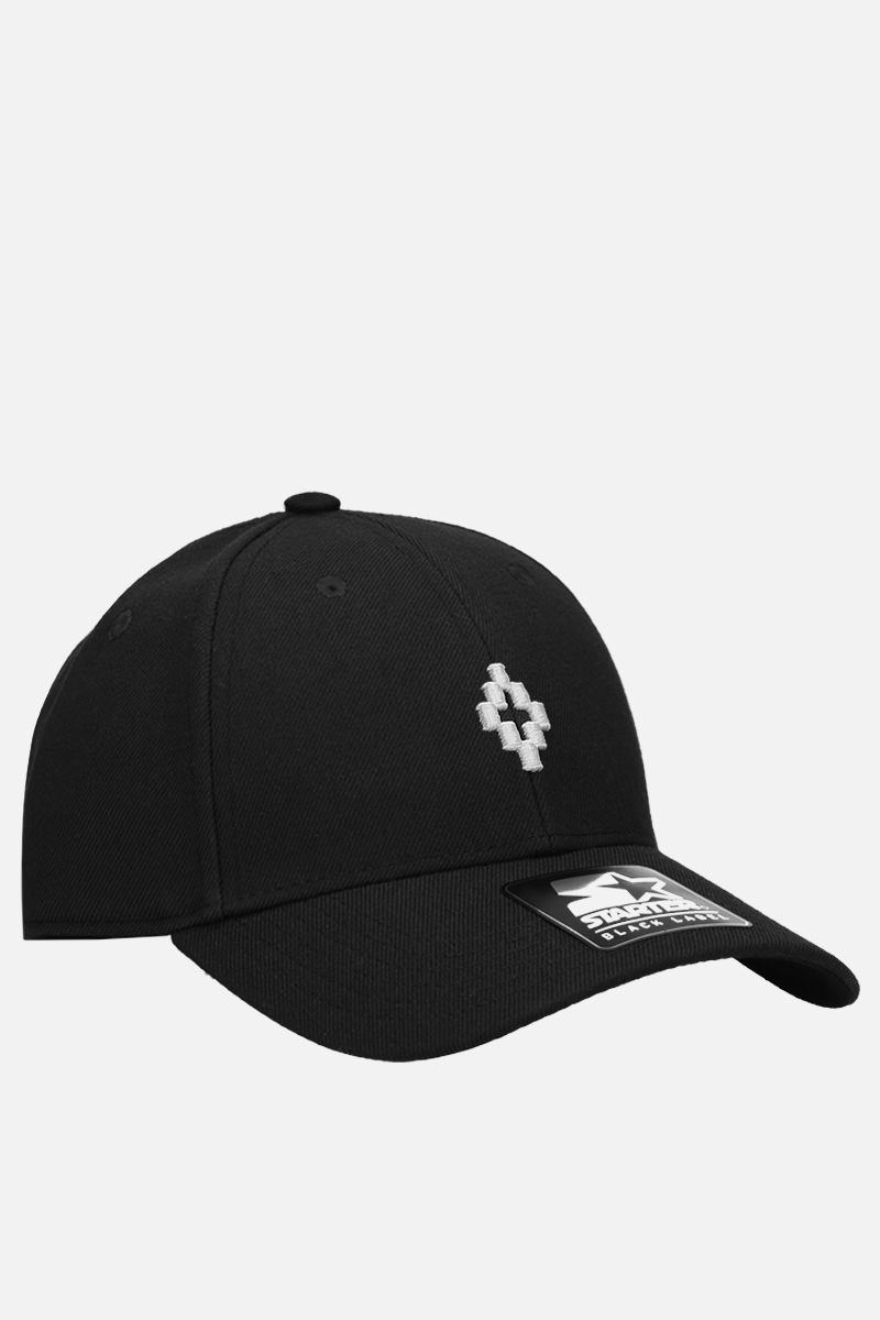 MARCELO BURLON COUNTY OF MILAN: Cross baseball cap in gabardine Color Black_2