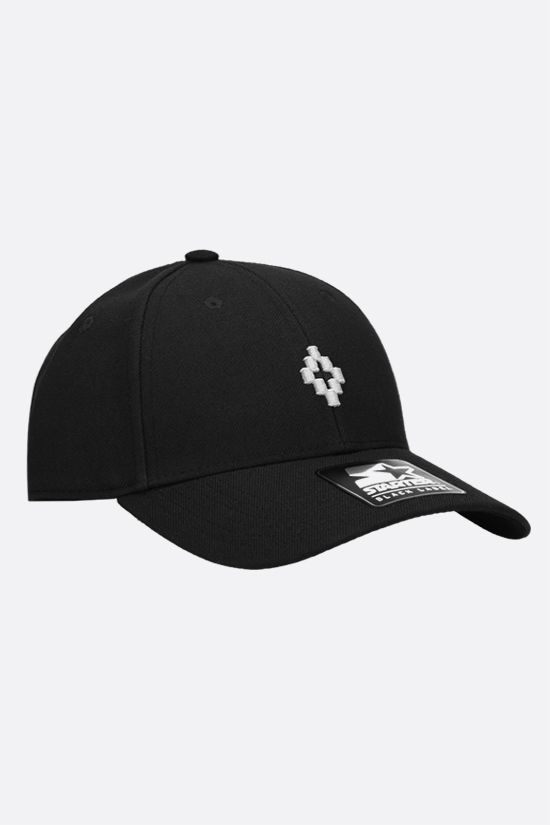 MARCELO BURLON COUNTY OF MILAN: Cross gabardine baseball cap Color Black_2