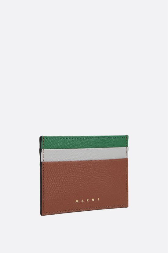 MARNI: saffiano leather card case Color Brown_2
