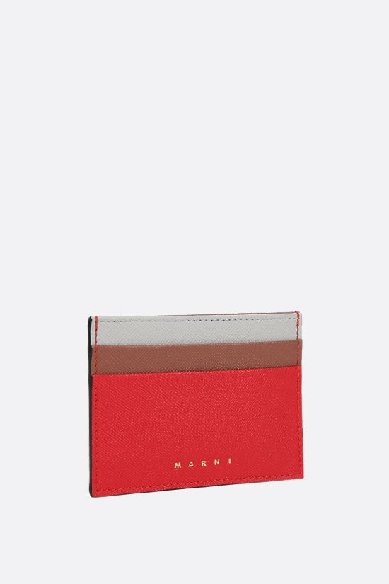 MARNI: saffiano leather card case Color Orange_2