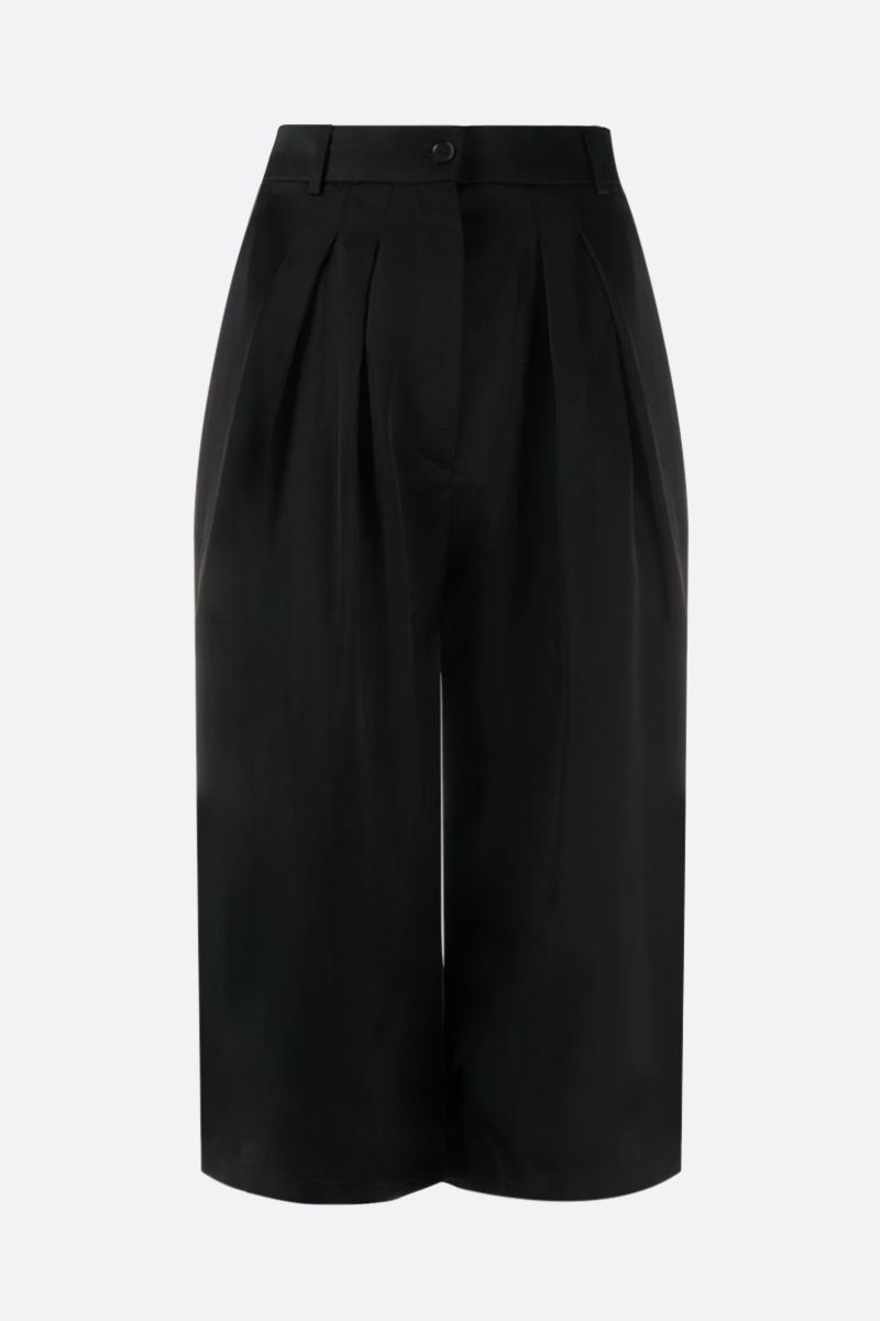 ROCHAS: satin darted shorts Color Black_1