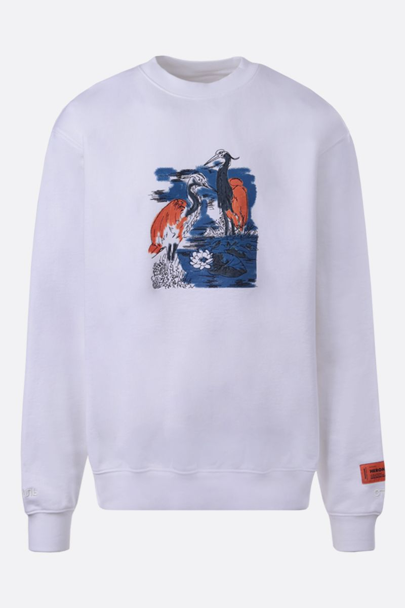 HERON PRESTON: graphic print cotton sweatshirt_1