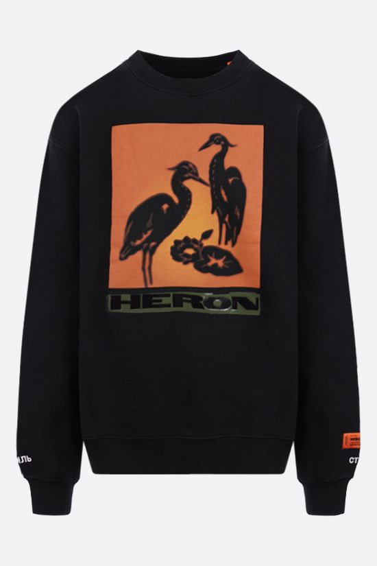 HERON PRESTON: Nightshift cotton sweatshirt Color Black_1