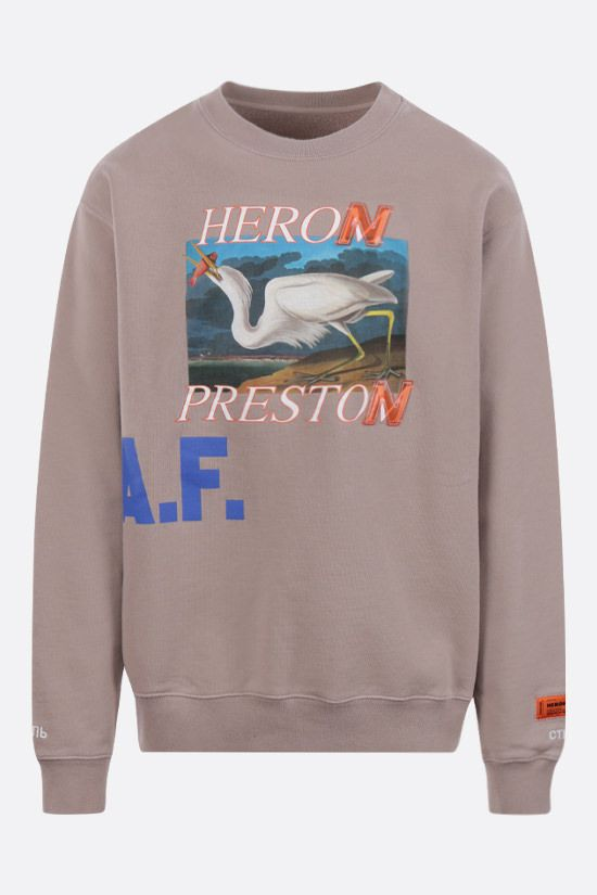 HERON PRESTON: A.F. cotton sweatshirt Color Brown_1