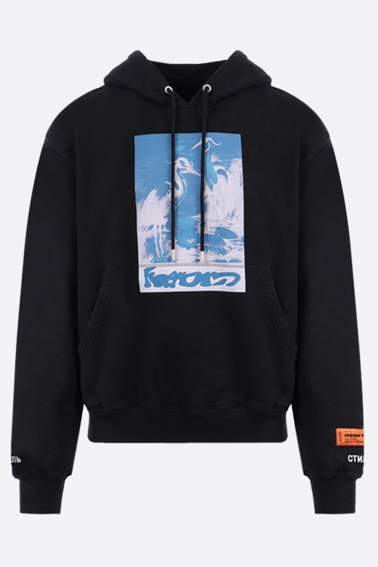 HERON PRESTON: Captcha cotton hoodie Color Black_1