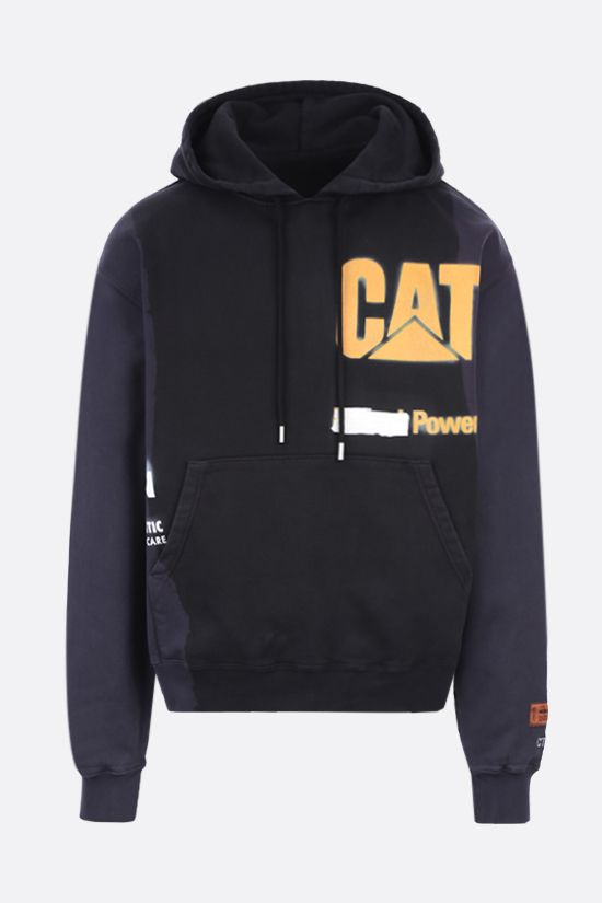 HERON PRESTON: HP x Caterpillar oversize cotton hoodie Color Black_1