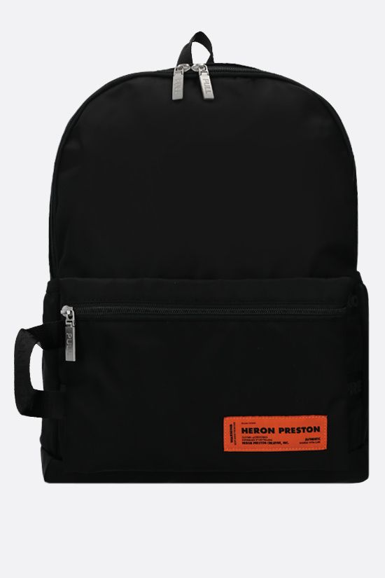 HERON PRESTON: logo-detailed nylon backpack Color Black_1