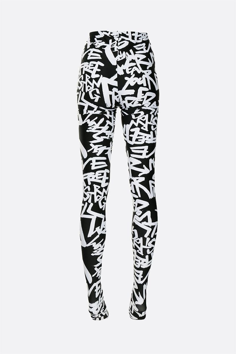 COMME des GARCONS: collant in jersey con stampa Colore Black_2