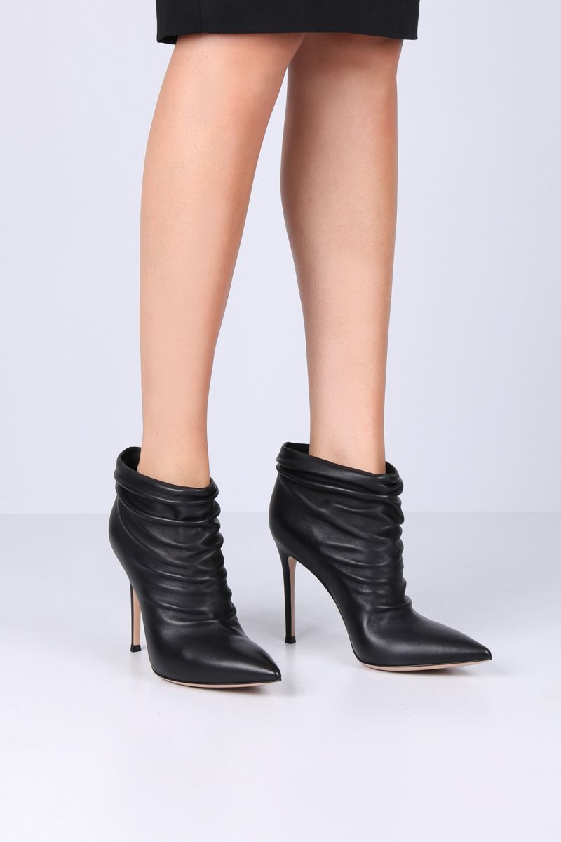 GIANVITO ROSSI: Cyril ankle boots in soft draped nappa Color Black_2