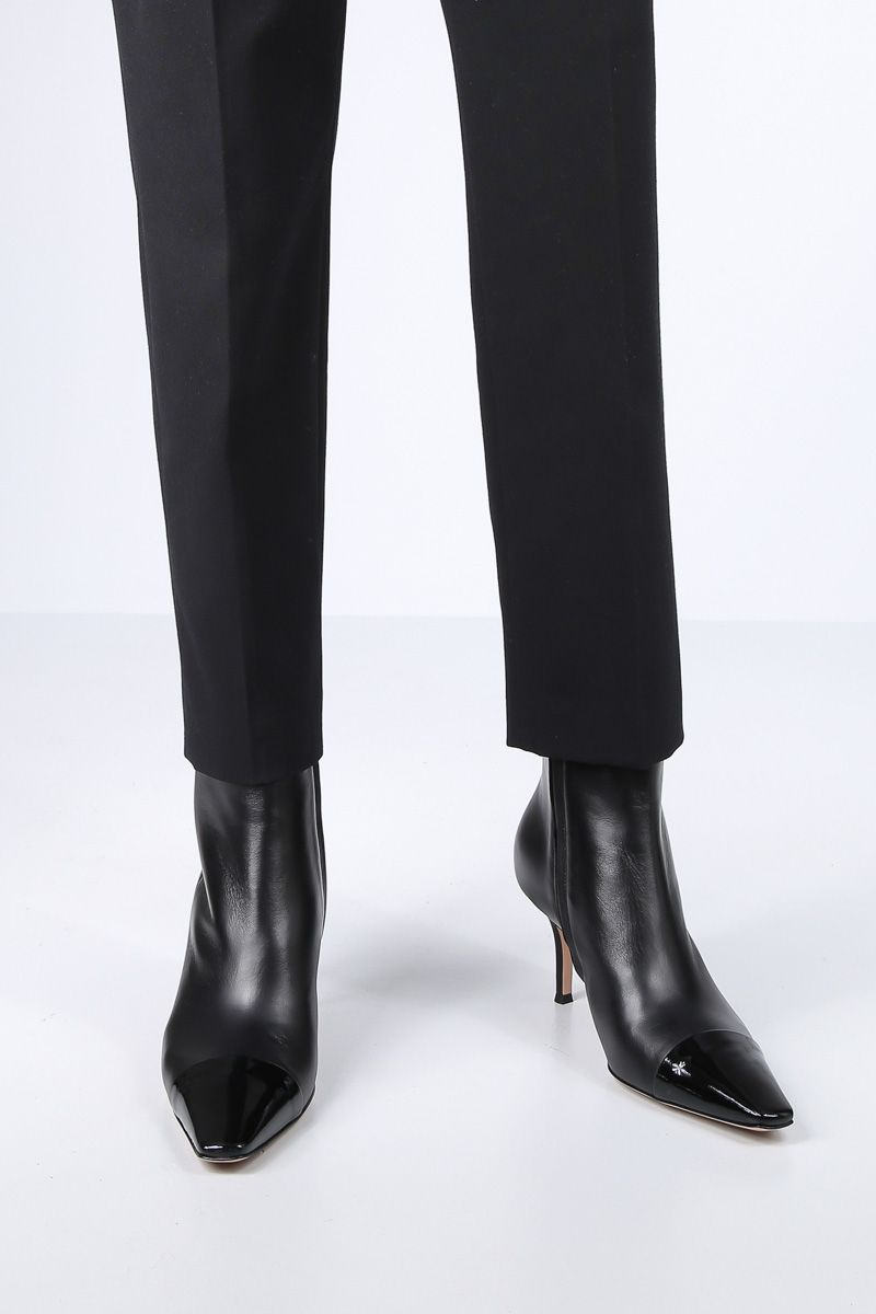 GIANVITO ROSSI: Lucy ankle boots in smooth and patent leather Color Black_2