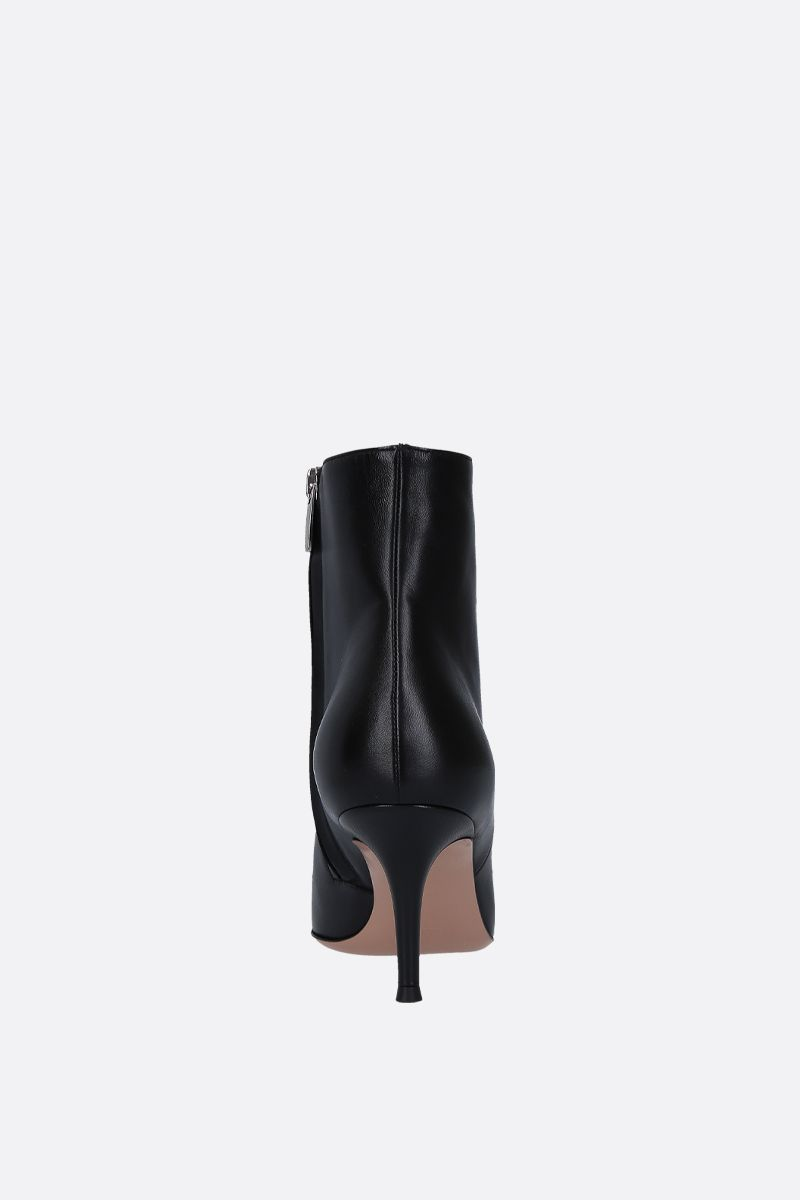 GIANVITO ROSSI: Lucy ankle boots in smooth and patent leather Color Black_4