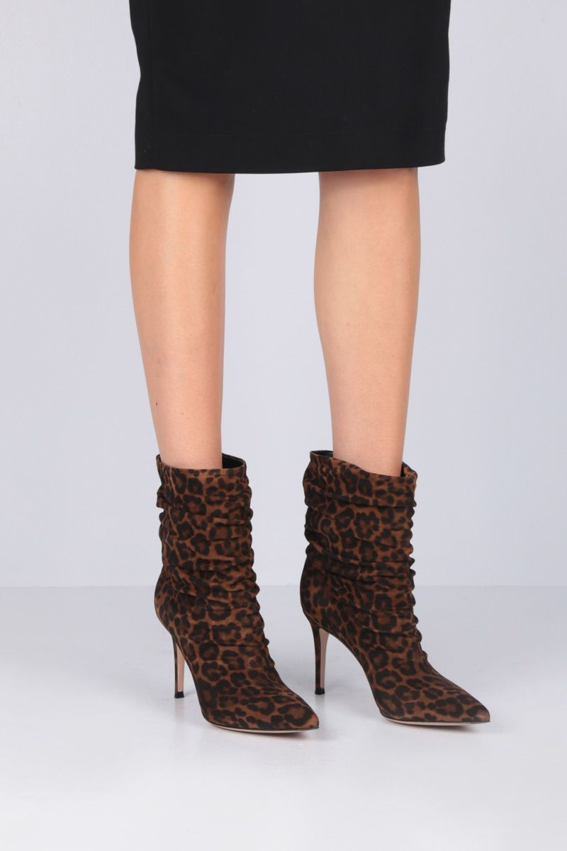 GIANVITO ROSSI: Cecile ankle boots in leopard suede_2
