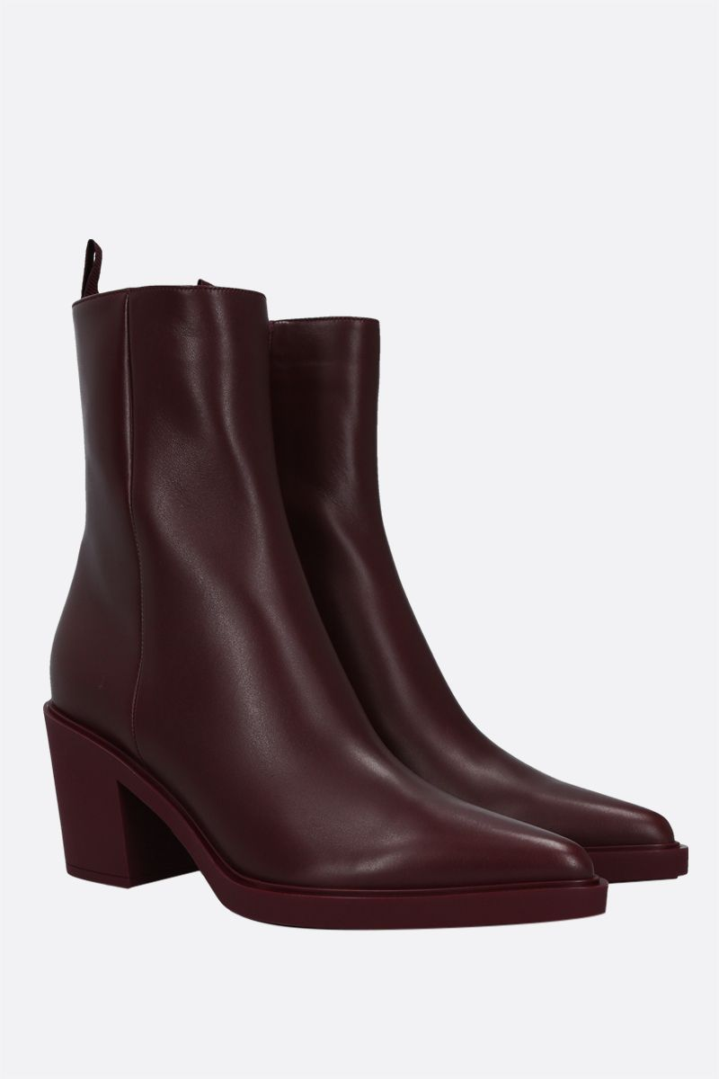 GIANVITO ROSSI: Dylan smooth leather ankle boots Color Red_2
