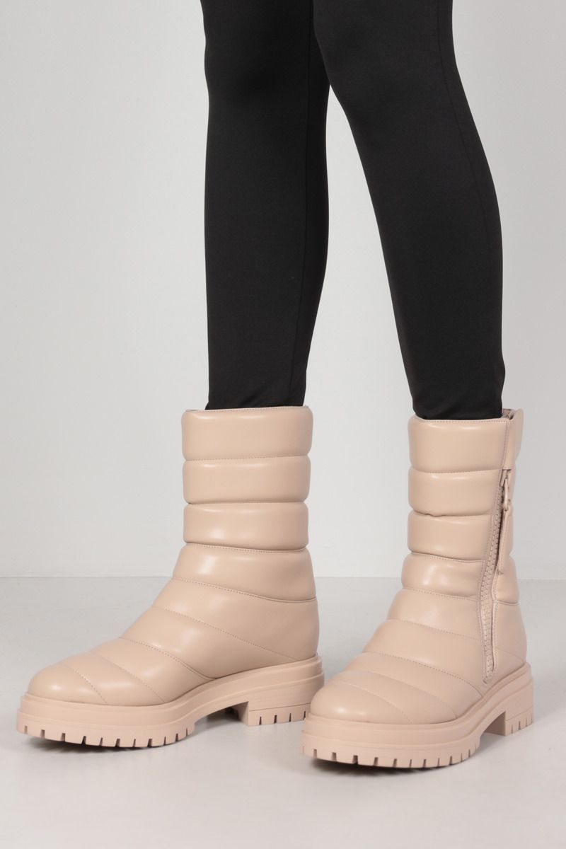 GIANVITO ROSSI: Eiko quilted faux nappa ankle boots_2