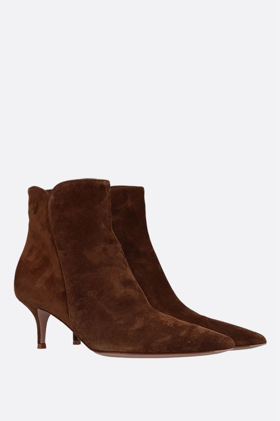 GIANVITO ROSSI: stivaletto Texas in suede Colore Marrone_2
